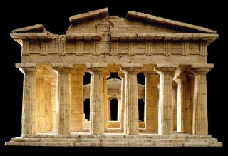 Korkmodell Dieter Cöllen, Poseidon Tempel, Paestum (3)