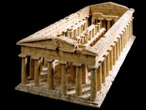 Korkmodell Dieter Cöllen, Poseidon Tempel, Paestum