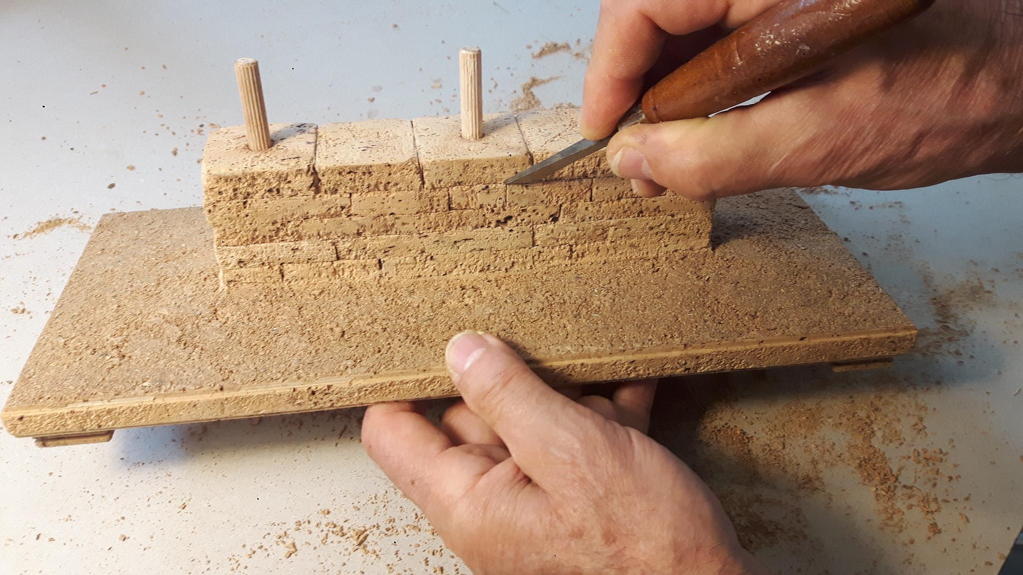 Diter Cöllen Korkmodell Tempel der Dioskuren